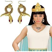 Aros cleopatra Pendientes de serpiente faraona Joyas reina egipcia Accesorio disfraz mujer Clips orejas egipcios Bisutería de diosa de la antigüedad