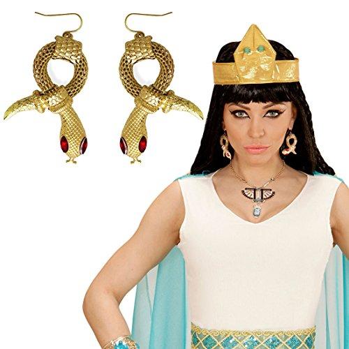 Cleopatra Ohrstecker Schlangenohrringe Pharaonin Ägypten Königin Schmuck Ägyptische Ohrclips Ohrschmuck Kostüm Accessoire Damen Göttin Modeschmuck Antike