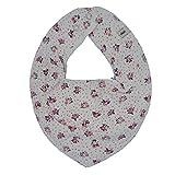 Pippi Baby Dreieckstuch Halstuch Lätzchen in verschiedenen Designs (Blümchen auf weiß)