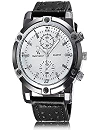 iSweven Fashion V6 Series big dial Men's sports watch and good quartz performance Analogue Black Unisex Wrist Watch w1056f