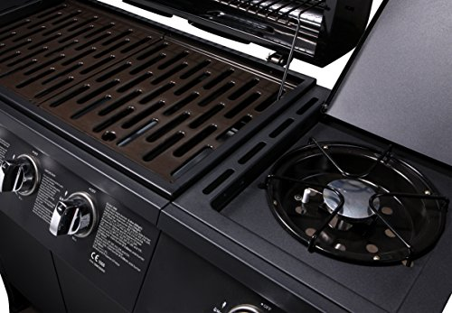 CosmoGrill 6+1 Gas Burn Grill BBQ Barbecue w/ Side Burner & Storage