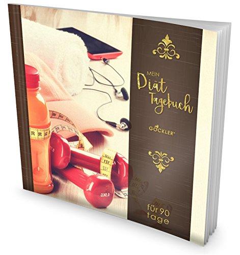 """GOCKLER® Diät-Tagebuch: Das 90 Tage Abnehmtagebuch zum Ausfüllen • Professionell gestaltet, Softcover mit glänzendem Finish • Motiv """"Ready to go"""" • Ein Ernährungstagebuch zum Abnehmen"""