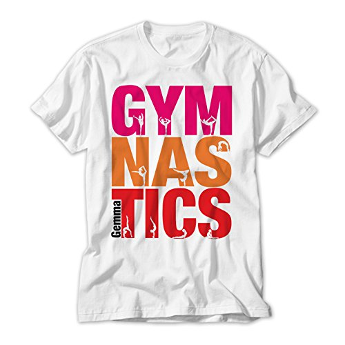Personalised Gymnastics Colourful Kids T Shirt. Avalable In Sizes 2 to 12 yrs