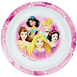 FUN HOUSE 005463 Disney Princesses Assiette Micro-ondable pour Enfant, Polypropylène, Rose, 22 x 22 x 1 cm