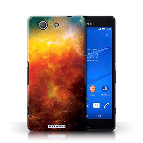 Kobalt® Imprimé Etui / Coque pour Sony Xperia Z3 Compact / Planète Jaune conception / Série Cosmos Nébuleuse Orange