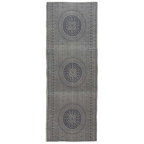 Ib Laursen - Läufer Teppich Bettvorleger, Zink / Grau - Rosetten, 80x180cm (6849-18)