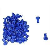 SODIAL(R) Terminales de cables 50pcs rapida Splice Conectores Lock Crimp electrica electrica - Azul