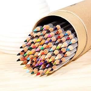 Ohuhu® 48-colore Matite Colorate per Pittura Disegno Alta Qualità / Matite Multicolori per Artista Schizzo, Set di 48 Colori Assortiti, Confezione in Cilindro