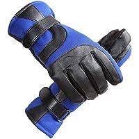 GUANTES XUERUI Invierno para Hombre Antideslizante Antideslizante Calor Engrosamiento Aire Libre para Montar En Invierno (Color : Azul, Tamaño : One Size)