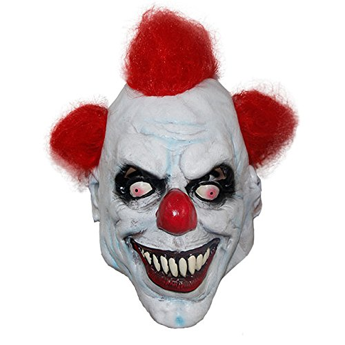 Scary Halloween Maske Fancy Dress Zubehör Clown sah Evil Haar Horror Latex für Erwachsene und Kinder von (Fancy Kinder Dress Halloween)