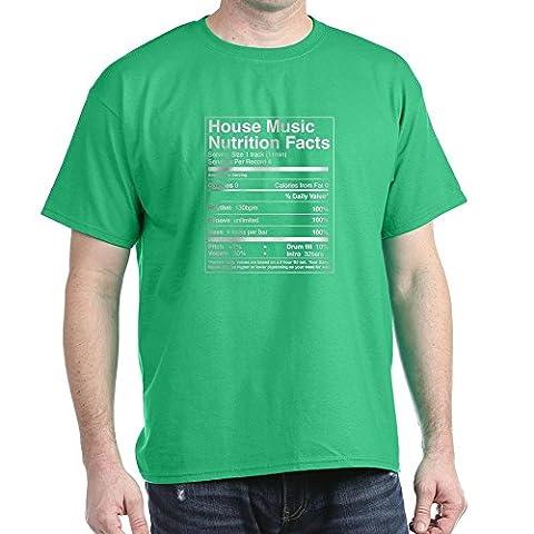 CafePress - House Music Nutrition Facts Black T-Shirt - 100% Cotton T-Shirt