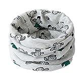 Fablcrew, morbida e calda sciarpa scaldacollo multiuso per bambini, con motivo con animali, bandana per bambini Grey 40*20cm