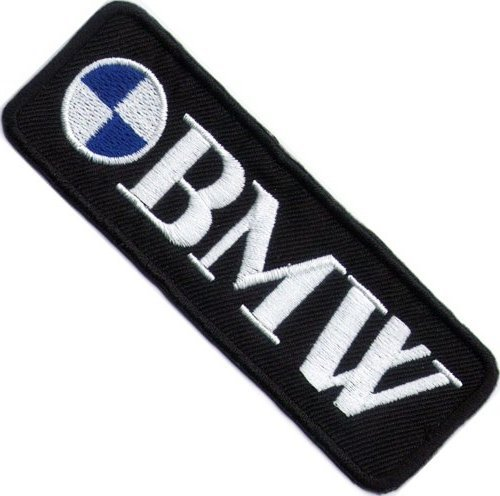 Aufnäher mit BMW-Logo, zum - Motorrad-club Um Den Eisen,