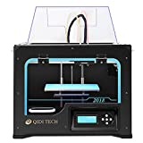 QIDI TECHNOLOGY Dual Extruder Desktop Stampante 3D Printer, New Generation QIDI TECH I,Fully Metal Frame Structure - Acrylic Cover,W/2 Free Filaments