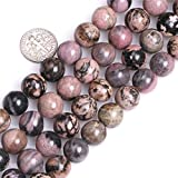 Sweet & Happy Girl's store 12mm runde k¨¹nstliche Rhodonit Perlen Strang 15 InchJewellery, die Korn-