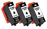 Printing Pleasure 378XL 3 SCHWARZ Druckerpatronen kompatibel für Epson Expression Photo XP-8500, XP-8505, HD XP-15000 | C13T37914010