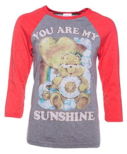 Womens Care Bears You Are My Sunshine Baseball T Shirt
