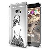 HTC 10 Coque Protection de NALIA, Housse Motif Silicone Portable Premium Case Smartphone Cover Transparente, Ultra-Fine Souple Gel Slim Bumper Etui pour Telephone HTC10, Designs:Bird Princess