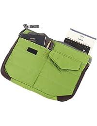 Tamirha Polyester Charming Green Multi Pocket Travel Bag Organizer