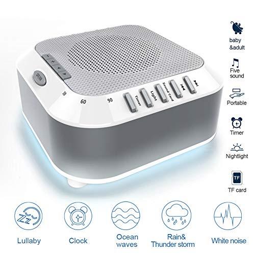 Gn shop White Noise Machine, 5 High Fidelity Suoni Auto-off Timer Portatile Terapia del Sonno for Casa, Ufficio, Baby & Viaggi