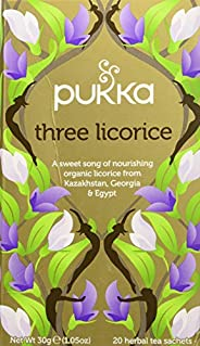 Pukka Three Licorice, Tisana, 20 Filtri
