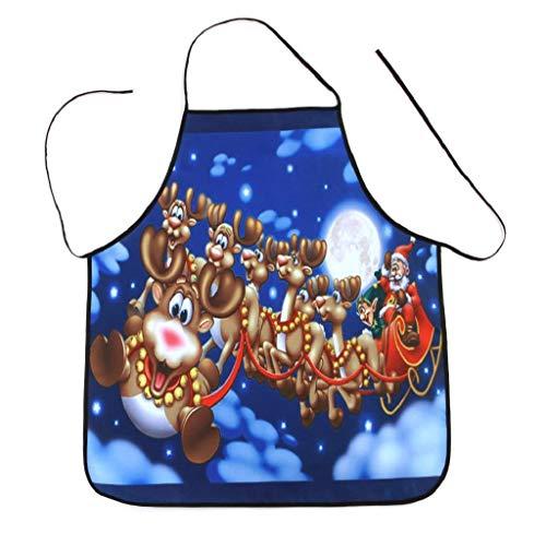 Weihnachten Schürze Party Dinner Wasserdichte Schürze Festliche Weihnachtsdekoration 3D Druck Kochschürze Latzschürze Kochen Küche Schürze BBQ Weihnachten Geschenk Neuheit für Kinder Frauen Männer