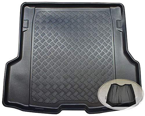 ZentimeX Z3329825 Geriffelte Kofferraumwanne fahrzeugspezifisch + Klett-Organizer (Laderaumwanne, Kofferraummatte)