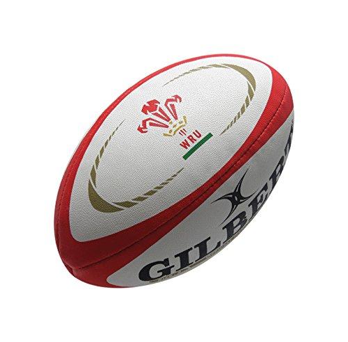 GILBERT Mini Wales International Replik Rugby Ball Weiß, Rot und Gold