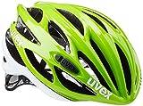 Uvex Erwachsene Fahrradhelm Race 1, Green/White, 51-55 cm