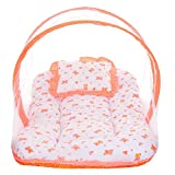 #8: Littly Dual Color Bedding Set with Foldable Mattress, Mosquito Net and Pillow (Peach)