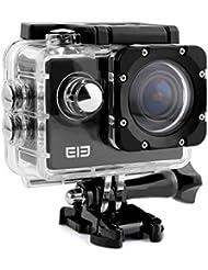 ELE CAM Explorer WiFi Sport Outdoor-Action Video Kamera Wasserdichte 16MP 4K 1080P 64GB 170 ° Weitwinkel Camcorder Car DVR für Motorrad Fahrrad mit Halterung 2,0-Zoll-LCD