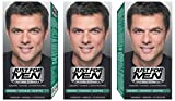 Just for Men - H45 -  Haarfärbemittel, Pflege Tönungs Shampoo, Natur Schwarzbraun, 3er Pack