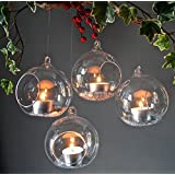 Crazy Sutra Glass Tealight Candle Holders _transparent 4pc Borosil - Small With 4 Tealight