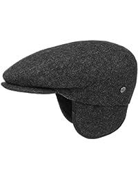 Lierys Teflon Flatcap mit Ohrenklappen Schirmmütze Schiebermütze Cap Regencap für Damen und Herren Schiebermütze Flatcap mit Schirm, mit Ohrenklappen, mit Futter, mit Schirm, mit Ohrenklappen, mit