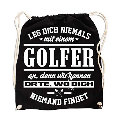 Rucksack Leg Dich Niemals mit Einem Golfer an -