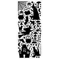 1 X BLACK HALLOWEEN PEEL OFF STICKERS CARD MAKING, CRAFTING, SCRAPBOOKING 509