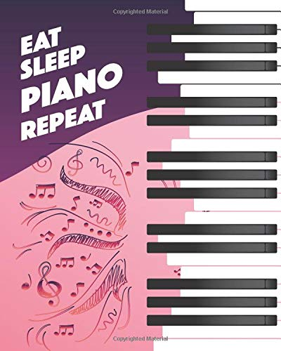 Zoom IMG-2 eat sleep piano repeat lined