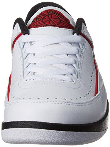 Nike Herren Air Jordan 2 Retro Low Basketballschuhe Blanco (White / Varsity  Red-Black ...