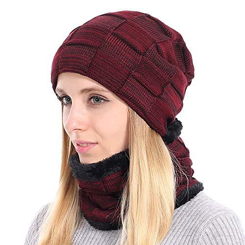BOYOU Unisex Hombres/Mujeres Invierno Cálido Sombrero de Punto Al Air