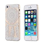 ECENCE Apple iPhone SE / 5 5S CUSTODIA SLIM CASE TPU SILICONE COVER TRASPARENTE CLEAR Trasparente dreamcatcher 12020408