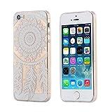 ECENCE Apple iPhone SE / 5 5S Custodia Slim Case TPU Silicone Cover Trasparente Clear Trasparente Dreamcatcher 12020408