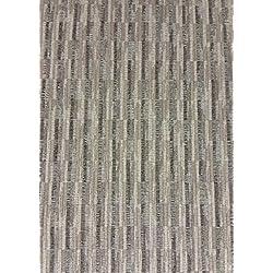 MECO ASINPPOVIULAK42752 Chaise pliante de luxe en tissu d'acier rembourrée - Marron, Métal, Plan (Language_tag FR), 94 x 47 x 7 cm