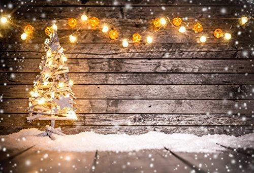 m Baumwolle Polyester Weihnachten Holz Boden Fotografie Hintergrund waschbar Neugeborene Foto Studios Baby Requisiten Hochzeit Hintergrund Drop kp-184 ()
