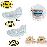 Attelle Dentaire Gouttière Protecteur de Dents Correction Soin de Buccal pour Empêcher les Grincements Bruxisme (Transparent)