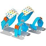 Nijdam Kinder Gleitschuhe verstellbar, Blau/Orange, 24-34, 1018425