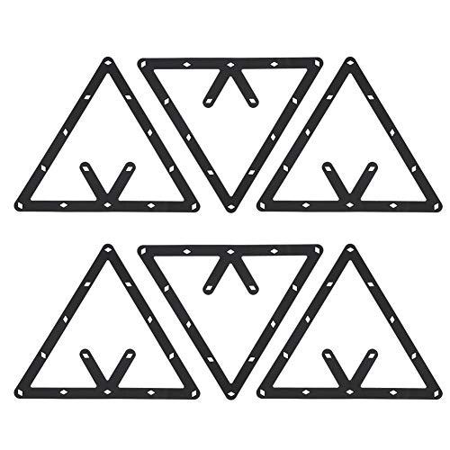 Dilwe Billard-Rack, 6 Stück/Set Triangle Rack Pool Tisch Ball Holder Positioning Rack Billard Zubehör -