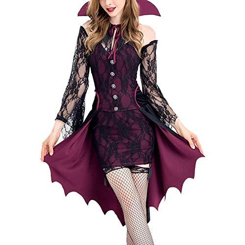 Frauen-erwachsene Fantasie-Partei-Halloween-Kostüm-Vampir Countess Cosplay Kleid-Hexe-Kostüm-erwachsene -