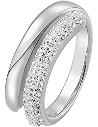 C-Collection by CHRIST Damen-Ring Edelstahl Kristall (silber)