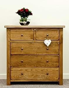 Hartford rustic oak furniture Commode à 2 + 3 tiroirs