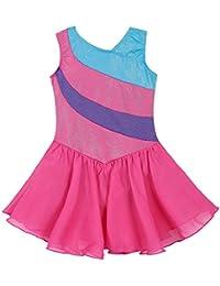 02eab8b21 Mallot de Ballet/Danza con tutú para Chica/Vestido sin Mangas con Rayas,  2-11 años, niña, Color Hotpink, tamaño (6-7…